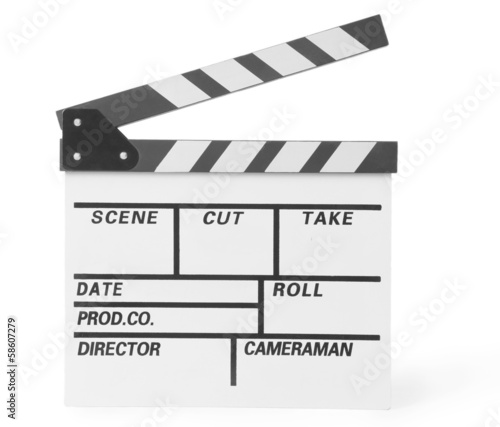 movie clapper clapperboard