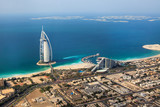 Fototapety  Dubai, UAE. Burj Al Arab from above