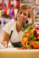 Florist is phoning