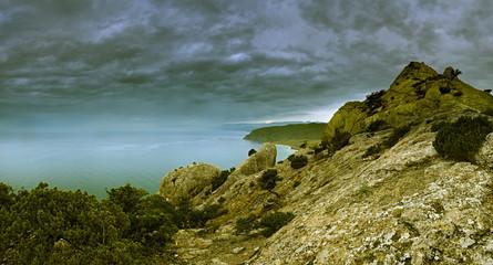 Walking in the autumn Crimea