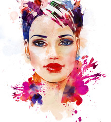 Fashion illustration of the beautiful girl