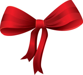 Red Bow - Christmas decoration vector