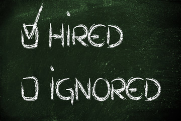 get hired, don't stay ignored: recruitment process outcome
