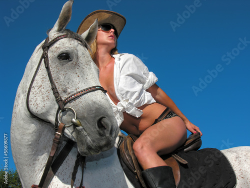 young attractive rider