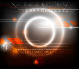 Digital abstract background. Vector illustration.