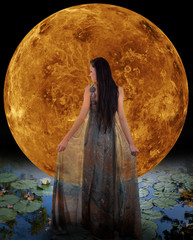 Water fairy in front of a Venus