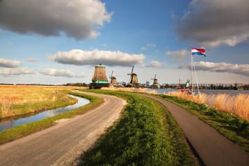 Windmills in Zaanse Schans, Amsterdam, Holland