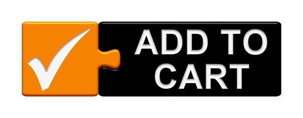 Puzzle-Button orange schwarz: Add to cart