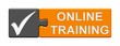 Puzzle-Button grau orange: Online Training