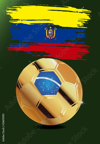 Ecuador in Soccer WM Brazil 2014