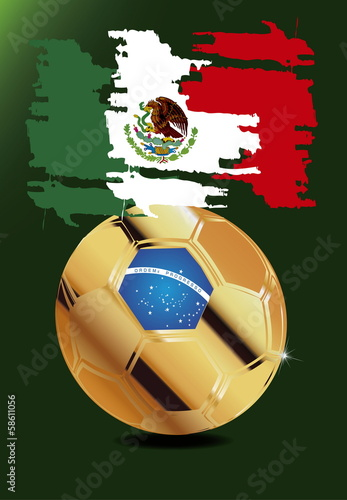 Mexico in Soccer WM Brazil 2014