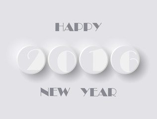 New Year Round Buttons