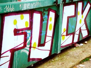 graffiti dumpster