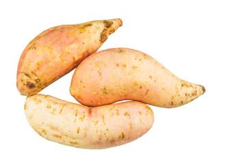 Sweet Potato over white background