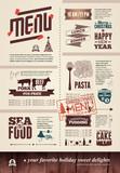 Fototapety Christmas restaurant menu