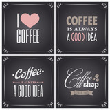 Fototapety Chalkboard Coffee Collection