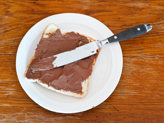 sweet sandwich - toast with chocolate spread