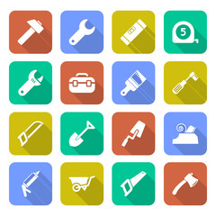 Tools Icons With Shadows