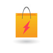 Shopping bag with lightning icon