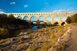 Pont du Gard view from tourist walking path