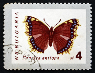 Postage stamp Bulgaria 1962 Mourning Cloak, Butterfly