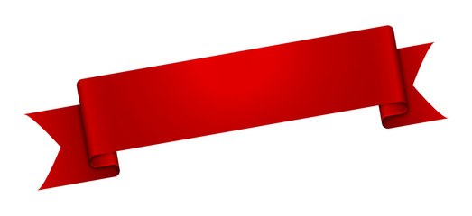 The blank glossy red ribbon