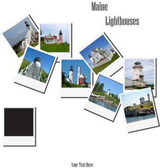 Old Polaroid Pictures of Some Maine Lighthouses