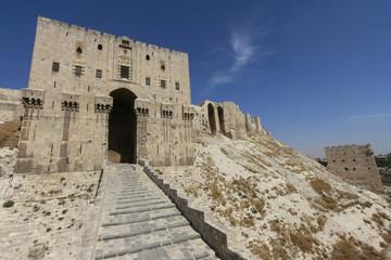Aleppo Citadel entrance