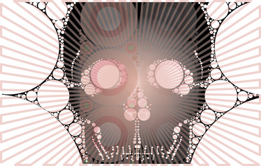 striped skull vector pattren print