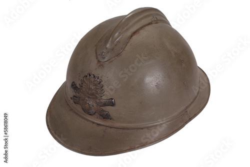Poster WW1 steel helmet