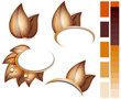 Autumn leaves icons set