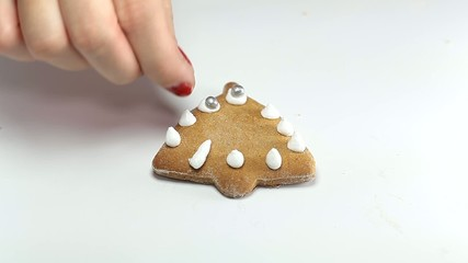Ornament on bell gingerbread