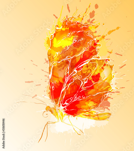 Fire butterfly illustration