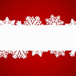 red snowflakes pattern Christmas background