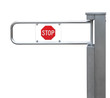 Entrance tourniquet, detailed turnstile, stainless steel, red