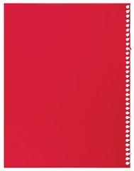 Red notepaper single sheet blank torn jotter notebook background