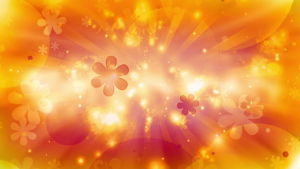 Cosmic Hippie Retro Looping Animated Background