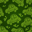 Go Green Car Seamless Pattern
