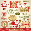 Set of Santa Claus and Christmas design elements