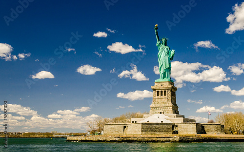 Foto op Aluminium Standbeeld The Statue of Liberty