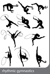 Rhythmic gymnastics, vector
