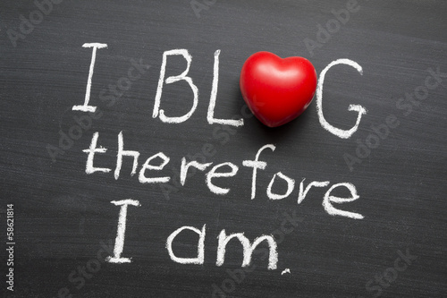 I blog therefore