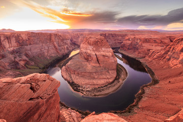 Horseshoe Bend Canyon sunset, Arizona