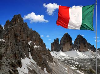 Tre cime di Lavaredo with Paternkofel, Italy