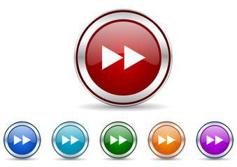 rewind vector icon set