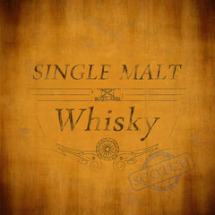 Matured Single Malt Whiskey-Etikett
