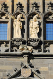 Statues of the Czech King Charles IV. in Prague, Czech Republic