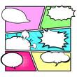 comic template Vector