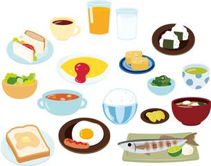 朝食のいろいろなメニュー
