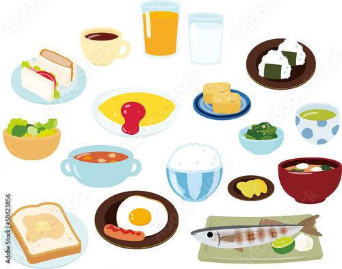 朝食のいろいろなメニュー - 58623856